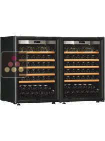 Combination of 2 single temperature wine cabinets for ageing and/or service TRANSTHERM
