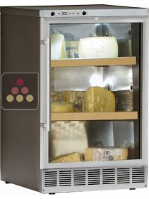 Single Temperature built-in Cheese cabinet with Stainless steel front CALICE