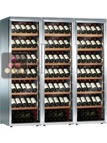 Combination of 3 Single temperature wine service or storage cabinets CALICE