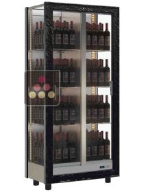 3-sided refrigerated display cabinet for wine storage or service CALICE DESIGN