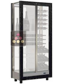 4-sided refrigerated display cabinet for wine storage or service - Empty without equipment CALICE DESIGN