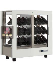 4-sided refrigerated display cabinet for wine storage or service CALICE DESIGN