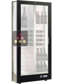 3-sided refrigerated display cabinet for wine storage or service with reduced depth - Without equipment CALICE DESIGN
