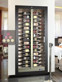 Built-in multi-purpose wine cabinet for storage or service - 60 bottles - Reduced depth CALICE DESIGN