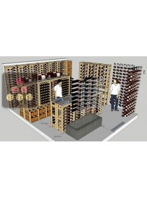 Cellar storage solution: 32 wooden boxes + 64 magnums + 1620 wine bottles 75cl + special bottles VISIORACK