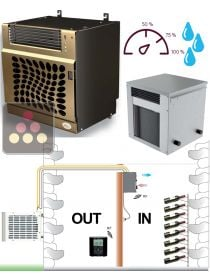 Air conditioner for natural wine cellar up to 30m3 - with humidity control FRIAX