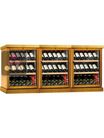 Combination of 3 Single temperature wine storage or service cabinet CALICE
