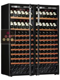 Combination of 2 single temperature wine ageing or service cabinet  TRANSTHERM