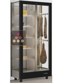 3-sided refrigerated display cabinet unit for cheeses and delicatessen storage CALICE DESIGN