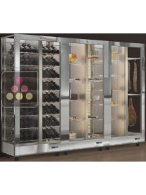 Combination of 3 modular refrigerated display cabinet - Wine, Cheese, Delicatessen and Dessert CALICE DESIGN