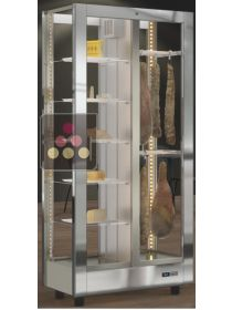 4-sided refrigerated display cabinet unit for cheeses and delicatessen storage CALICE DESIGN