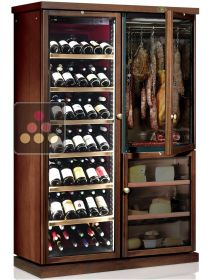Gourmet combination : multi-temperature wine cabinet, cheese cabinet & delicatessen cabinet CALICE