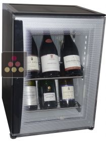 Silent mini-winebar for 8 bottles wirth colorless door WINEBAR