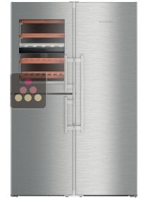 Combined wine cabinet, freezer, refrigerator & ice maker with biofresh area