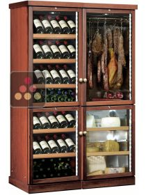 Combination of a 2 temperature wine cabinet, a cheese cabinet and a delicatessen cabinet CALICE
