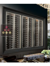 Combination of 3 modular built in multipurpose wine cabinets on iron stand CALICE DESIGN