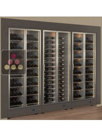 Built-in combination of 3 modular multipurpose wine cabinets CALICE DESIGN