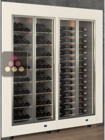 Built-in combination of two modular built in multipurpose wine cabinets CALICE DESIGN