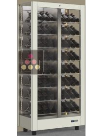 3-sided refrigerated wine display cabinet unit for storage or service CALICE DESIGN