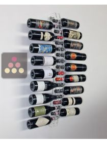 Wall Champagne Rack in Clear Plexiglas for 14 bottles - Horizontal bottles SOBRIO
