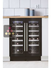 Dual temperature built-in wine cabinet for service LE CHAI