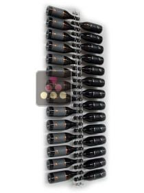 Wall Wine Rack in Clear Plexiglass for 21 Champagne horizontal bottles SOBRIO