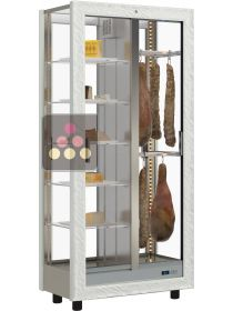 4-sided refrigerated display cabinet for storage or service of cheese and cold meat CALICE DESIGN