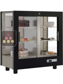 3-sided refrigerated display cabinet for desserts CALICE DESIGN