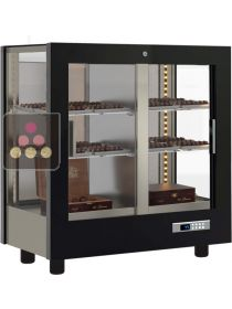 3-sided refrigerated display cabinet for chocolates CALICE DESIGN
