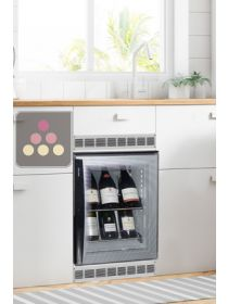 Built-in silent mini-winebar for 8 bottles with colorless door WINEBAR