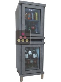 Silent mini-winebar and minibar with customized wood coating WINEBAR