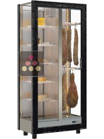 3-sided refrigerated display cabinet for storage or service of cheese and cold meat CALICE DESIGN