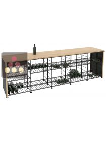 Beechwood tasting counter-top with integrated storage racks L'ATELIER du VIN
