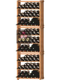 Set of 3 modular beachwood racks for 105bottles Ma Cave à Vin