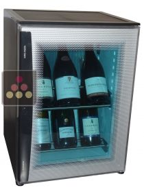 Silent mini-winebar for 8 bottles with bleu door WINEBAR