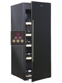 Single-temperature wine cabinet for ageing or service - Solid door with mirror effect  CAVISS