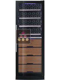 Dual temperature wine ageing and service cabinet LE CHAI