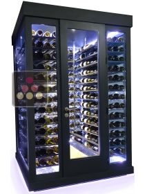 Single temperature Cellar – 3 glass walls – Horizontal Shelves – Ageing or service WINEROOM