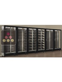 Combination of 6 modular multi-purpose wine display cabinet - 3 glazed sides CALICE DESIGN