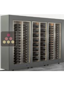Freestanding combination of 3 modular multipurpose wine cabinets CALICE DESIGN