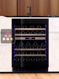 Dual temperature built in wine cabinet for storage and/or service - Push open door LE CHAI