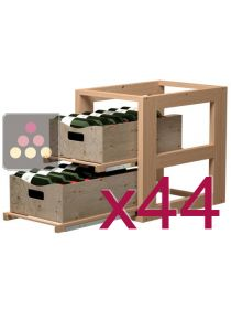 Wooden Storage unit for with 88 wooden boxes VISIORACK