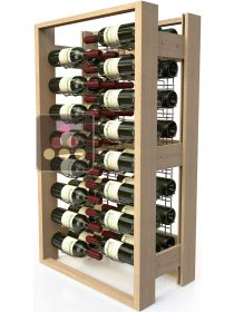 Wooden storage rack for 1500 bottles VISIORACK