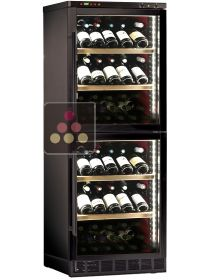 Dual door 2 temperatures wine cabinet - can be fitted CALICE