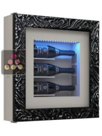 Single temperature silent refrigerated Champagne stand for 3 bottles CALICE DESIGN