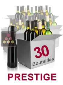 30 bottles of wine -Selection Prestige : red wines  Sélection Vin