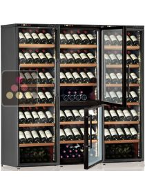 4-temperature combination of wine service or storage cabinets CALICE