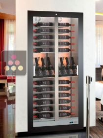 Built-in multi-purpose wine cabinet for storage or service - 52 bottles - Reduced depth CALICE DESIGN