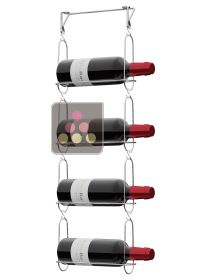 Wall rack for 4 magnum bottles  CHAIN MY WINE
