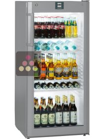 Freestanding fridge with glass door - 250L